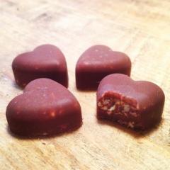 Domači čokoladni srčki