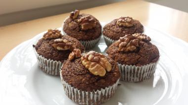 Prezdravi muffini s rogačom