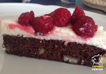 Čokoladna torta z malinami brez moke