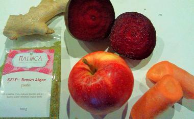 Naravni sok od rdeče pese z ingverjem in kelpom