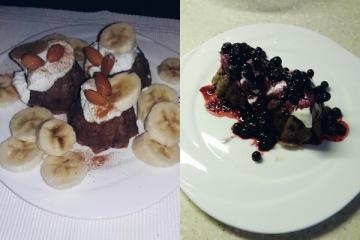 Mini tortice s datulama i čokoladom