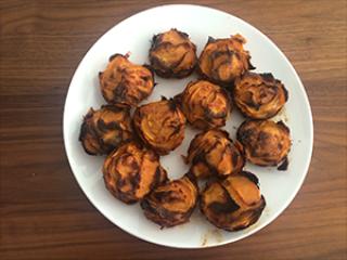 Rožice iz sladkega krompirja
