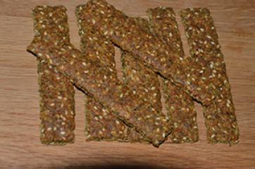 Hrustljave žitne ploščice s semeni