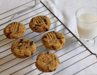 Kichererbsen-Kekse mit Schokoladenstückchen