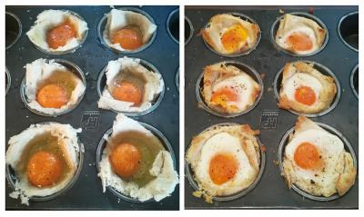 Jajčka v srajčki iz pečice