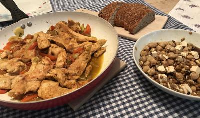 Fit piščanec in solata z lečo
