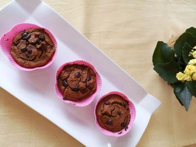 Arašidovo-bananini muffini iz sladkega krompirja