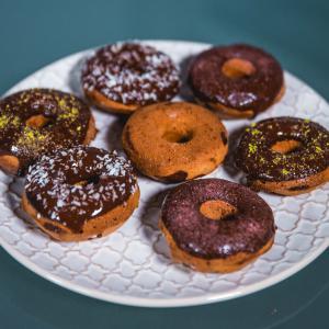 Zimt Donuts aus dem Ofen