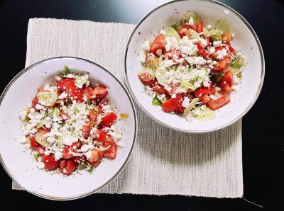 Bulgarischer Schopska-Salat