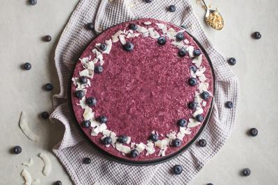 Leichte Chia Pudding Torte