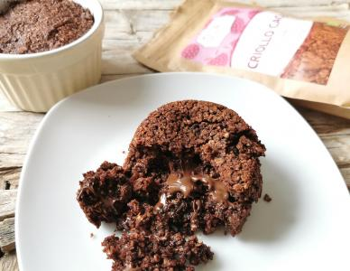 Lava Cake mit Haferflocken