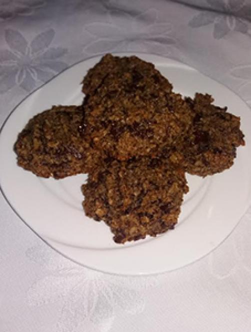 Kokosovo ovseni piškoti s koščki čokolade