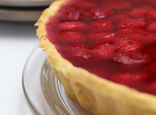 LCHF jagodna pita z vanilijevo kremo