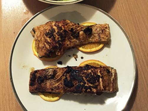 Okusni pečeni losos
