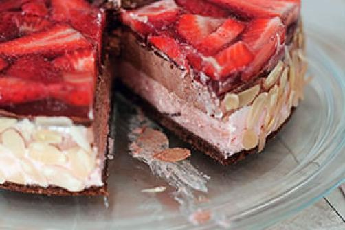 Jagodno-čokoladna LCHF tortica