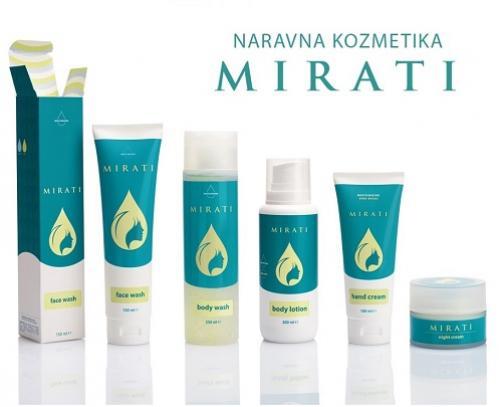 Sestavine naravne kozmetike Mirati