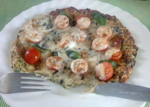 Pizza z bučnim testom