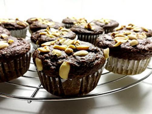 Čokoladno arašidovi muffini