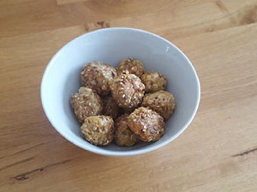 Za KUŽKE: Mesne kroglice s semeni