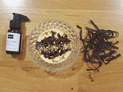 Čokoladne testenine z angleško kremo