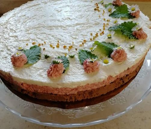 LCHF trobarvna torta