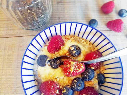 Zajtrk s chia semeni