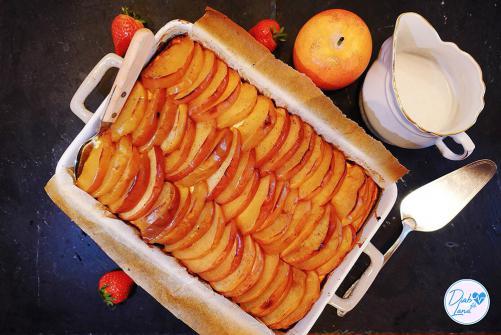 Prosena kaša z jabolki in skuto