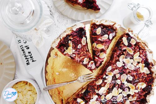 Brezglutenska slivovo - jabolčna pita