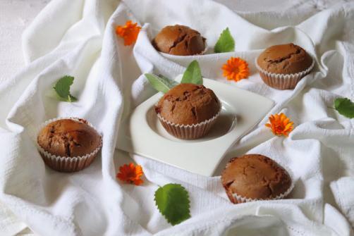 Beljakovinski čokoladni muffini