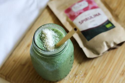 Spirulinin smoothie