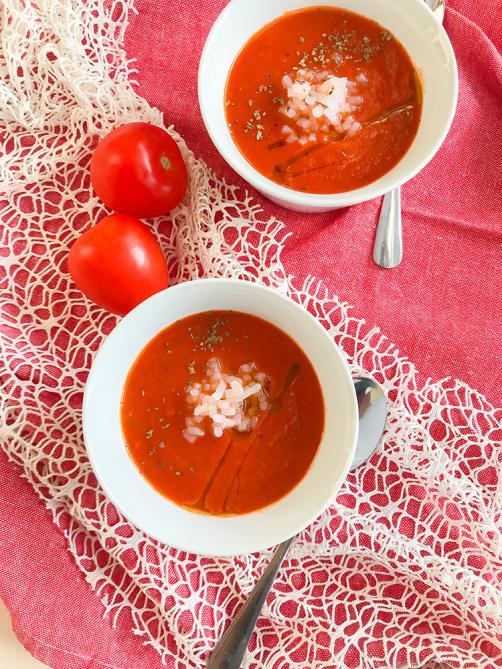 Paradižnikova juha z rižem brez OH