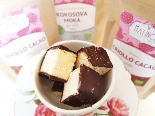 Kokosove kocke s čokolado