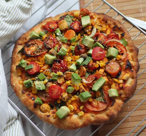 Zdrava veganska pizza