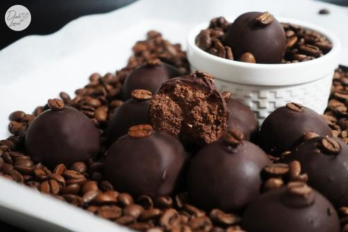 Süßkartoffelkugeln mit Kaffeegeschmack
