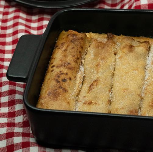 Gesunde Quarkpfannkuchen aus dem Ofen