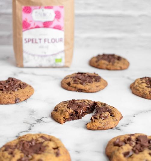 Dinkel-Cookies mit Zartbitterschokolade