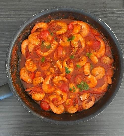 Garnelen in Tomatensauce