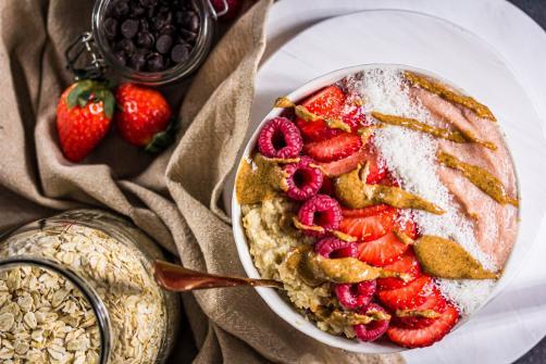 Erdbeer-Protein Frühstück