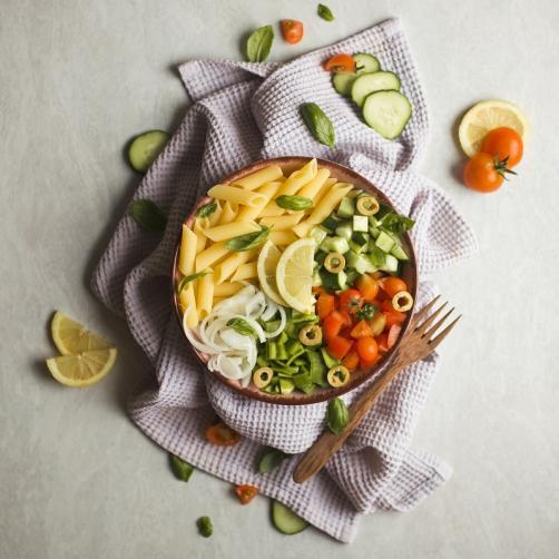 Nudelsalat (nach griechischer Art)