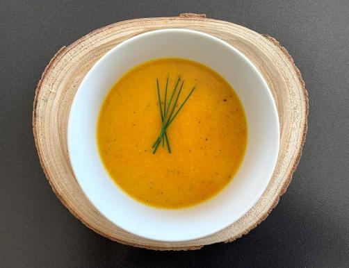 Kürbissuppe mit Polenta