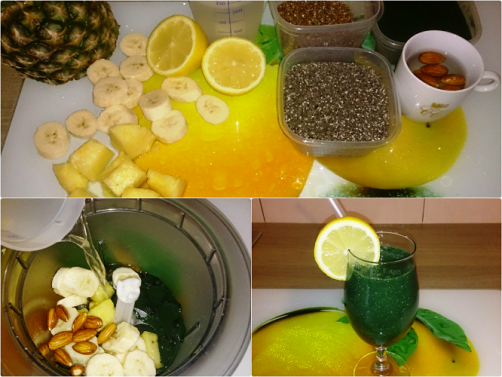 Sadno-zelen smoothie