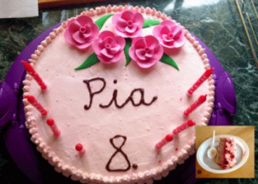 Malinina torta iz pirine moke