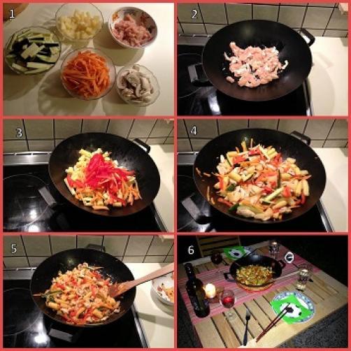 Piščanec z zelenjavo po kitajsko