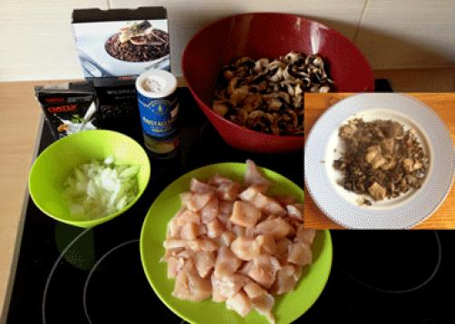 Divji riž s piščancem in ovseno kremo