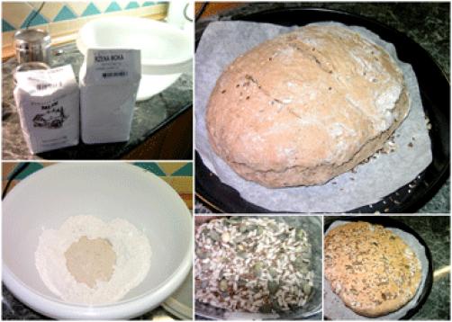 Pirino-ržen kruh s semeni