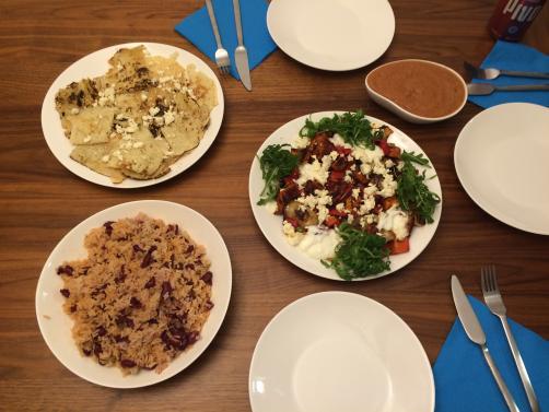 Piščančje fajite z rižem in salso