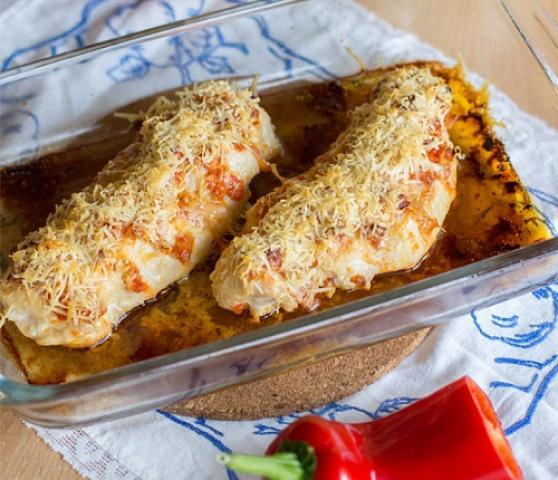 Pečena piščančja prsa s papriko