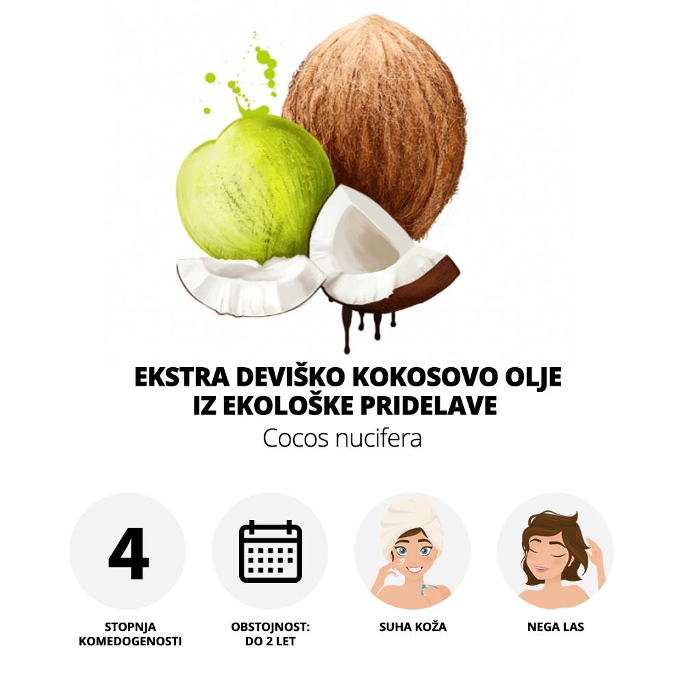 Ekstra deviško kokosovo olje iz ekološke pridelave