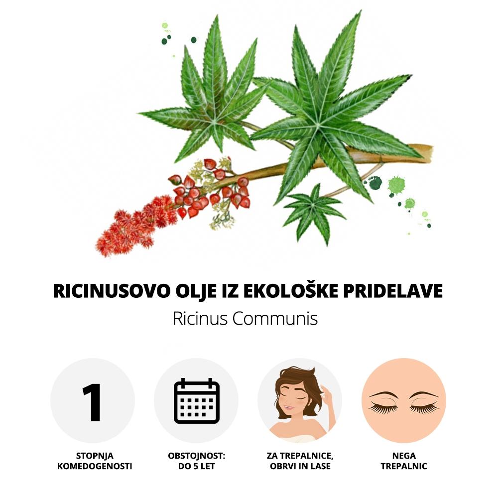 Ricinusovo olje iz ekološke pridelave