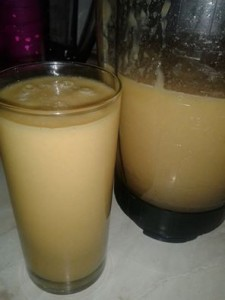 Smoothie ananas in maca